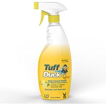 Tuff Duck Granite Countertop Daily Cleaner Sealer 24oz Marble Quartz with Lemon & Thyme essential oils