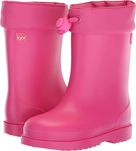 Fuchsia Rubber Wellies - Igor Girls' Chufo Cuello Rain Boot, Fuchsia, 23 M EU Toddler (6.5 US)
