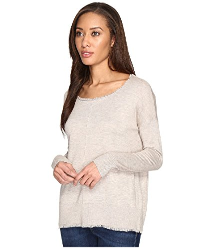 Splendid Women's Ayers Fray Pullover Heather Oatmeal Shirt