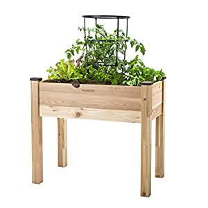 Cedarcraft elevated garden planter 18 x 34 x 30 garden outdoor Keter easy grow elevated flower garden planter