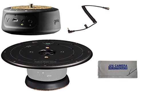 Syrp Genie Mini Panning Motion Control System Bundle with Syrp Product Turntable, 1C Link Cable, and Microfiber Cleaning Cloth by SYRP