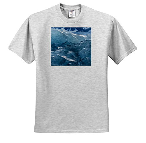 fan products of Danita Delimont - Abstracts - Norway, Spitsbergen. Liefdefjord, Monaco Glacier Ice Abstract. - T-Shirts - Adult Birch-Gray-T-Shirt Large (TS_257826_20)