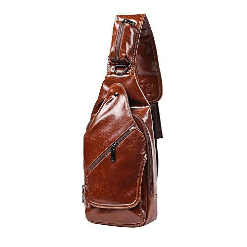 Casual iVotre Para Gloss Vintage Bolsa Cruz Hombro De Diario La El Bolso Cuero Honda De De Moda De La De De La Pu Desequilibrio Original Estilo Negro Brown Viaje Y Cuerpo De Hombres Negocio r6qxErtHw