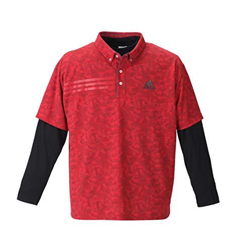 (アディダスゴルフ) ADIDAS GOLF 大きいサイズ ジオメトリックレイヤードB.Dシャツ
