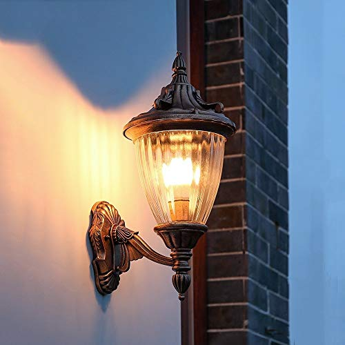 WASS6 Victoria Pastoral Lantern Retro Industry Wall Lamp European Vintage Outdoor Wall Sconce AC E27/E26 Engineering Light Landscape Light Museum Porch Vestibule Entrance Hall Decoration Wall Light