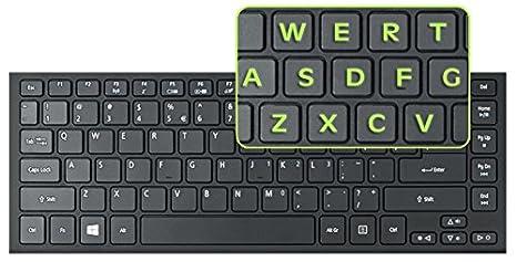 Neón verde teclado pegatinas para PC y escritorio – gran fluorescente Fuentes – trabajo fácilmente y