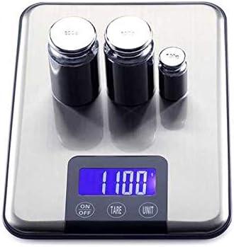 Báscula cocina 15 KG 1g pantalla táctil digital electrónica de la cocina de la balanza de peso de la dieta de alimentos grandes balanzas electrónicas de acero inoxidable delgado