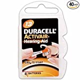 Duracell Hearing Aid Batteries Size 13 (40 Batteries)