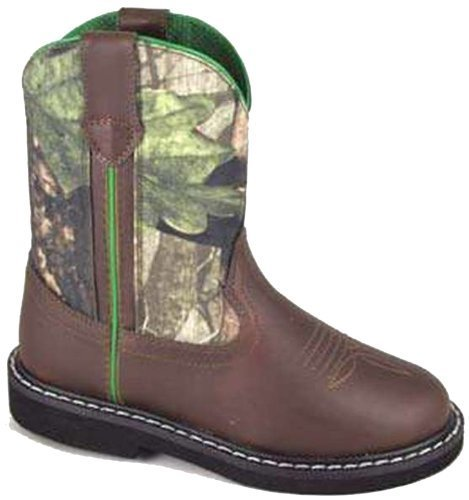 Smoky Mountain Boots Children Boys Hickory Brown Faux Leather Cowboy Camo 9.5 D by Smoky Mountain