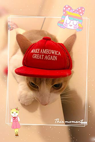 Unekorn Ultra Comfort Adjustable Make Ameowica Great Again MAGA Trump Slogan Cat Hat Pet Costume for Halloween Parties and Instagram Pictures Make America Great Again Cat Hat