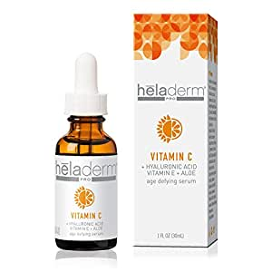 Vitamin C Serum for face with Advanced Hyaluronic Acid, Vitamin E, and Aloe. Natural Anti-Aging Anti-Wrinkle Facial Serum, Restore & Boost Collagen, Moisturizer, Organic, 1 fl. Oz.