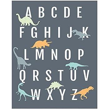 Dinosaur Alphabet Wall Art Print 11x14, Nursery Decor, ABC Poster, Kidu0027s  Room Decor Part 76