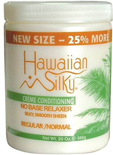 - Hawaiian Silky No Base Relaxer Regular, 20 oz, Creme Conditioning for all Hair Types & Styles