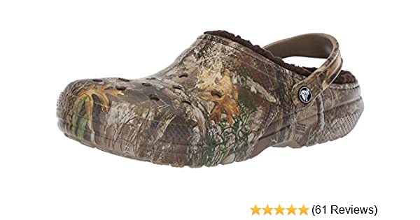 0063890099a74 Crocs Men's and Women's Classic Fuzz Lined Realtree Edge Clog, Great Indoor  or Outdoor Warm & Fuzzy Slipper Option