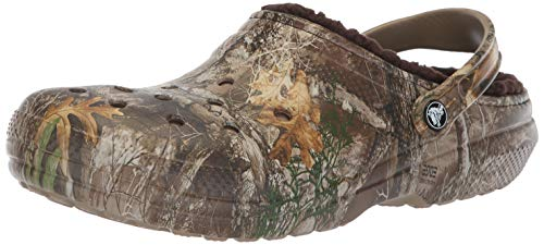 crocs Clssc Lined Realtree Edge Clog Chocolate, 11 M US Women / 9 M US Men