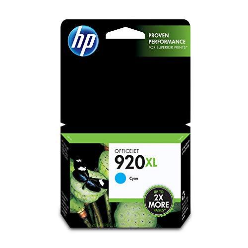920 Black Officejet Ink - HP 920XL Cyan Ink Cartridge (CD972AN) for HP Officejet 6000 6500 7000 7500