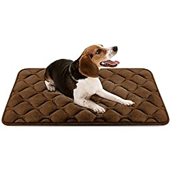 Hero Dog Medium Dog Bed Mat 35 Inch Crate Pad Anti Slip Mattress Washable for Pets Sleeping (Coffee M)
