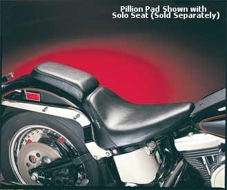- LePera 27342 Black Bare Bones Solo Seat and Pillion Pads for Softail Models (Except Deuce)
