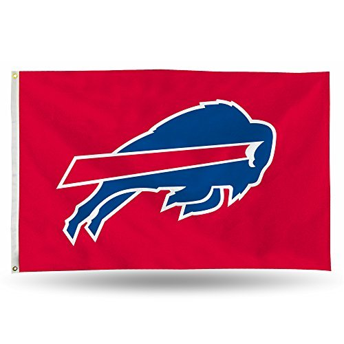 Rico NFL Buffalo Bills 3-Foot by 5-Foot Single Sided Banner Flag with ()