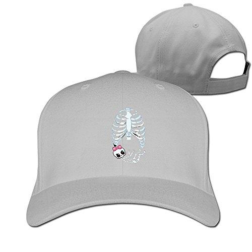 [Runy Custom Baby Girl Skeleton Pregnant Adjustable Hunting Peak Hat & Cap Ash] (Pregnant Basketball Costume)