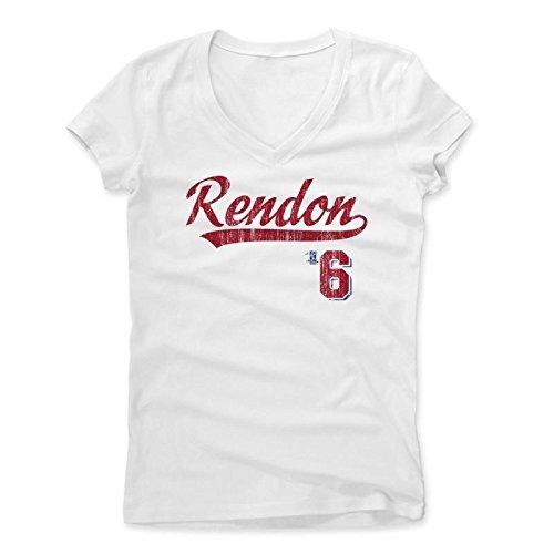 500 LEVEL's Anthony Rendon Script R Washington Baseball Women's V-Neck M White Officially Licensed by the Major League Baseball Players Association (MLBPA)