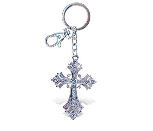 - Puzzled Sparkling Charms Fleur De Lis Cross