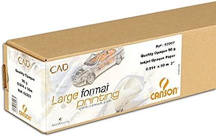 Canson Opaque paper Premium - Rollo de papel opaco, 0,914 (36