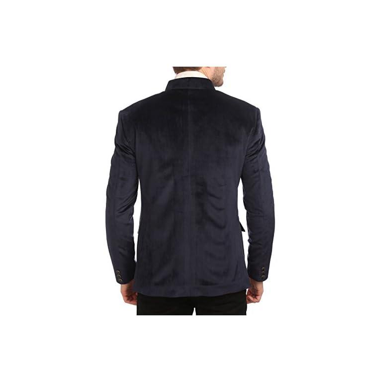 41Rvfc1OWwL. SS768  - Wintage Men's Velvet Grandad Collar Blazer