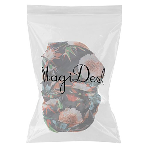 MagiDeal Maxi Split Vestido Floral Ropa de Playa Verano Correa de Espagueti de Fractura Mujeres naranja