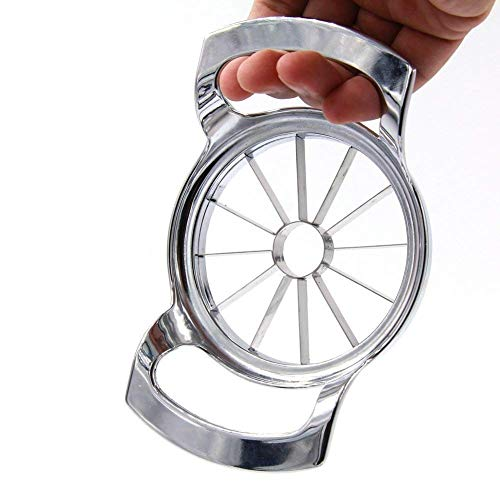 Wanleo Apple Slicer Cutter, Divider, Corer and Wedger with 12 Stainless Steel Blades]()