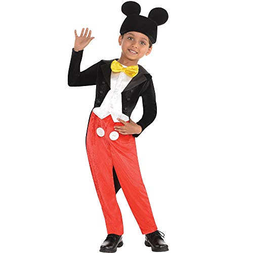 Costumes USA Mickey Mouse Costume Classic for Boys, Size 3-4T, Includes a Jumpsuit with Shirt and Jacket and a Hat]()