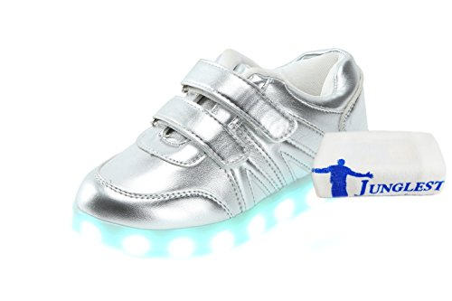 towel C8 Kids JUNGLEST® Present Unisex LED small and Luminous Shoes USB Straps Charging Hook Loop Sports 5wZnqAHnI