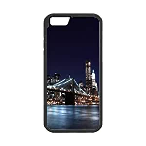 [New York2] New York City 3 Case for IPhone 6, IPhone 6 Case {Black}