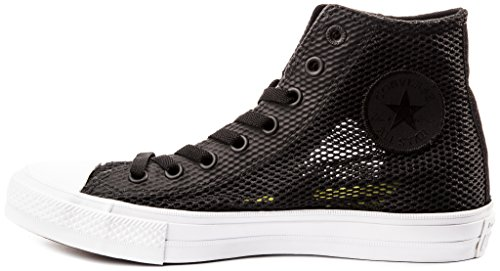 Converse Chuck II Open Knit Chaussures Homme Sneakers,Noir, 41