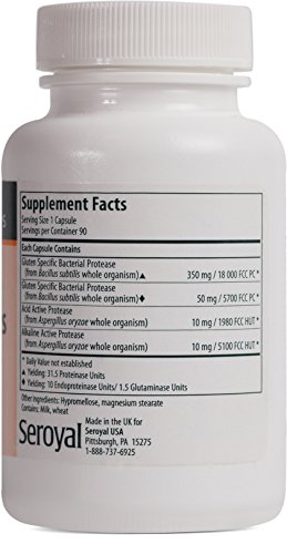 Genestra Brands - Digest Gluten Plus - Enzyme Supplement to Aid Digestion of Gluten* - 90 Vegetable Capsules by Genestra Brands (Image #1)
