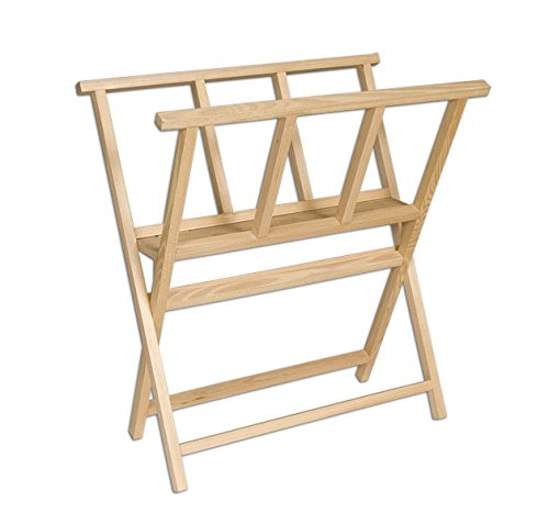 (Creative Mark Folding Wood Large Print Rack - Perfect for Display of Canvas, Art, Prints, Panels, Posters, Art Gallery Shows, Storage Rack - [Beechwood Finish] )