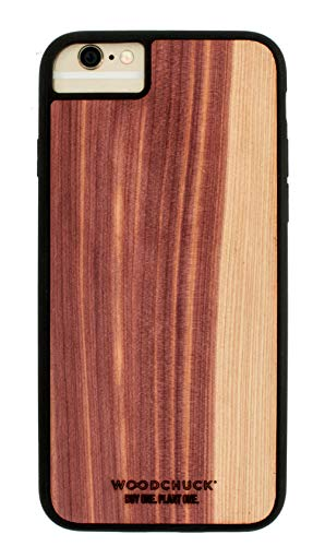 - Woodchuck Real Wood Case for iPhone 7/8 Plus - Three Premium Wood Options (Cedar, Mahogany, or Walnut) - Protect Screen and Edges - Unique Grain for Each Case - Made in USA