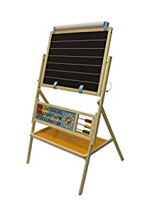 Little Partners My First Art Easel with Whiteboard and Chalkboard – Kids Educational Learning