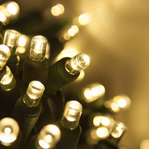 70 5mm LED Warm White Christmas Lights, 24 White LED Christmas Lights LED White Christmas Lights Holiday Lights Mini Lights Outdoor Tree Lights Wide Angle