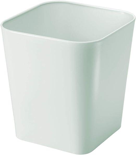 mDesign Cubo de basura de metal – Caja para cosméticos cuadrada ...