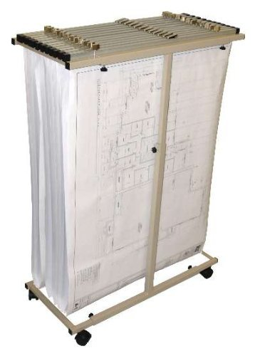 Adir Corp. 614 Mobile Vertical Plan Center for Blueprints - Sand (Safco Mobile Blueprint Stand)