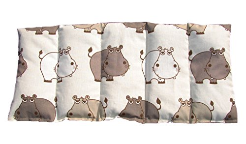 Kirschkernkissen Wärmekissen Körnerkissen ca. 50 x 20 cm Hippo