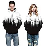 Rucan Halloween Women Men Skeleton 3D Print Long Sleeve Hoodie Sweatshirt Pullover Top