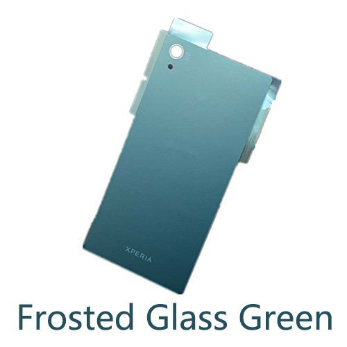 Vivi Audio Back Frosted Glass Battery Cover Housing Door For Sony Xperia Z5 E6653 E6683 E6633 (Frosted Glass Green)