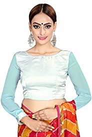Elina fashion Women's Party Wear Readymade Bollywood Designer Indian Style Padded Blouse for Saree Crop To