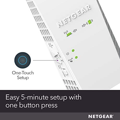 NETGEAR WiFi Mesh Range Extender EX6400 - Coverage as much as 2100 squareft. and 35 Devices with AC1900 Dual Band Wireless Signal Booster & Repeater (as much as 1900Mbps Speed), Plus Mesh Smart Roaming