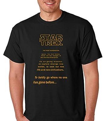 Raw T-Shirt's Star Trek - The Next Generation Funny Jedi Men's T-Shirt
