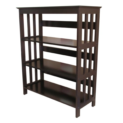 ORE International 3 Tier Bookshelves – Espresso