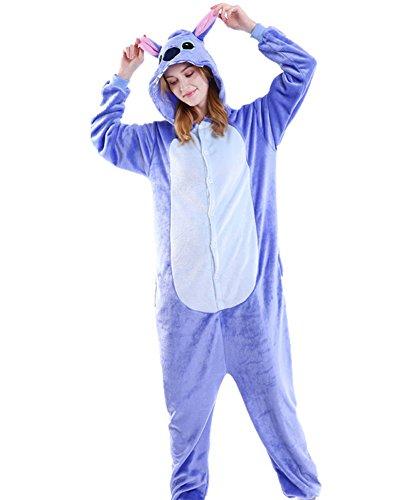 Elephant Stitch (Tonwhar Unisex Adult Pajamas Costume Cosplay Homewear Lounge Wear (M(Height:160cm-165cm), Blue Stitch))