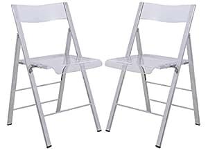 Amazon.com: LeisureMod MILDEN acrílico moderna sillas ...